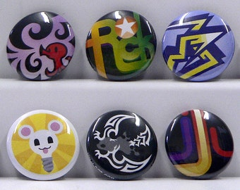 The World Ends With You (TWEWY) Player Pin Set #2