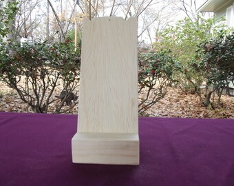 Necklace Display Jewelry Stand, Small Craft Show Shop  Display Handmade Unfinished Wood Simple Two Piece Portable Durable