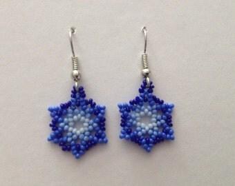 Small Handmade Native American Beaded Earrings