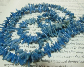 5-10mm coral branch tree beads, blue color, 15.5 inch