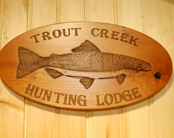 Custom fish signs with your text or graphics