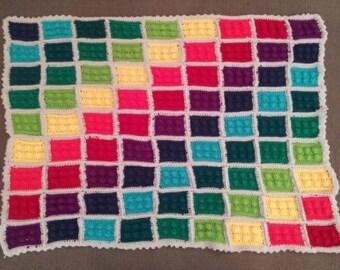Crochet Lego Block Blanket - Customizable