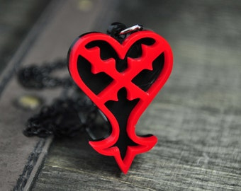 Kingdom Hearts Heartless Emblem Cosplay Necklace