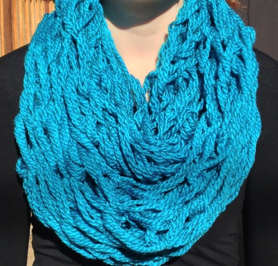 Knitting With Arms Scarf : Arm knit infinity scarf handmade by aphynangeldesigns