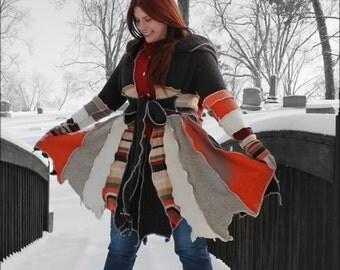 """Custom Fairy Coat of earthy colors  """"Key to my Heart"""""""