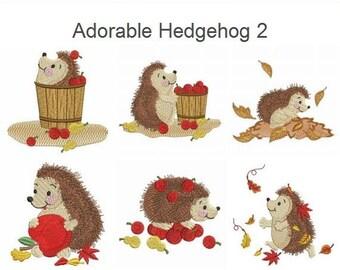 Adorable Hedgehog Cute Animals Pack Machine Embroidery Designs Instant Download 4x4 hoop 9 designs AP1390