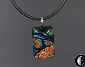 50% OFF SALE! Dichroic glass pendant  (use SALE50 coupon code at checkout).