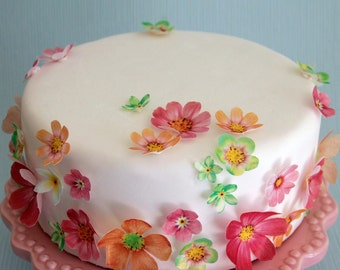 Cake Decorating Upper Hutt : edible wafer paper flowers cake decorations hydrangea cake