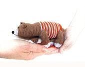 PDF, Crocheted Teddy Bear Pattern, Amigurumi Pattern, Lesson