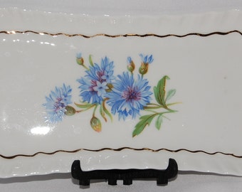 Adderley Fine Bone China Rectangler Plate - Made in England