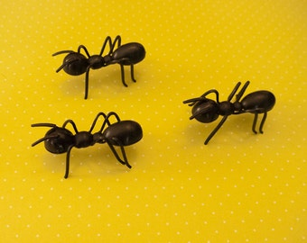 6 Ant Cake Toppers - Picnic Cupcake Toppers