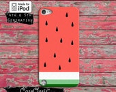 Watermelon Pastel Cute Art Pink Tumblr Inspired Case iPod Touch 4th Generation or iPod Touch 5th Generation Rubber or Plastic Case