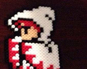 Final Fantasy 8-Bit White Mage Perler Bead Design