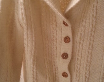 6 to 7 year old fisherman sweater with wooden buttons