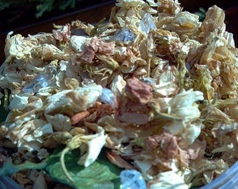 Yule Casting Herbs, Herbal Incense, Winter, Yule Incense with Crystals, Christmas, Winter Solstice Introspection Intuition Psychic Intention