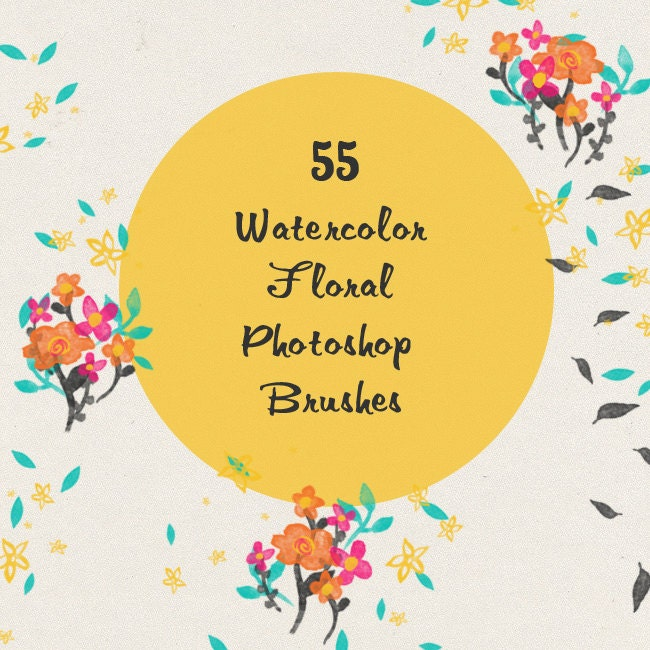 https://www.etsy.com/listing/179457000/watercolor-floral-photoshop-brushes-set?
