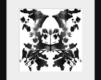 Rorschach Ink Blot Test Print