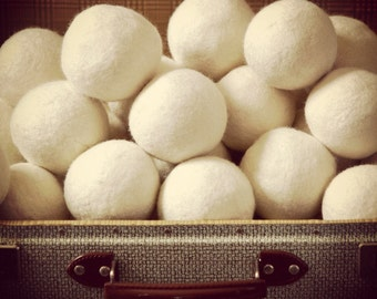 Wool Dryer Balls.  Wholesale set of 50 pure wool organic dryer balls for laundry.