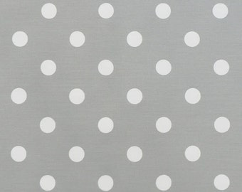 """Polka Dots Premier Prints Fabric By The Yard gray grey or choice-13 colors-54"""" wide cotton decorator fabric FAST SHIPPING"""