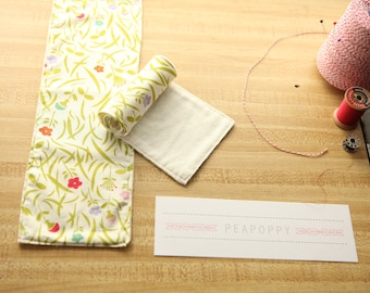 Organic Cotton Baby Burp Cloths-Happy Flowers