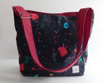 Messenger bag, diaper bag, purse, hip bag, shoulder bag , travel bag, everyday bag - TONYA