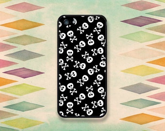 Little Skull & Crossbones Pattern Case: iPhone 4 // 4s, 5c or 5 // 5s