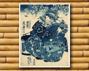 Asian Art Japanese Wall Decor Print Retro Poster (J49)