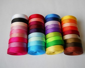 36yards 3/8'' 9mm solid Grosgrain Ribbon 36colors assorted