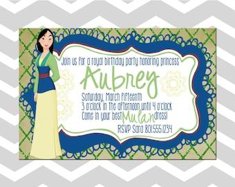 Princess Mulan Birthday Card/Invitation