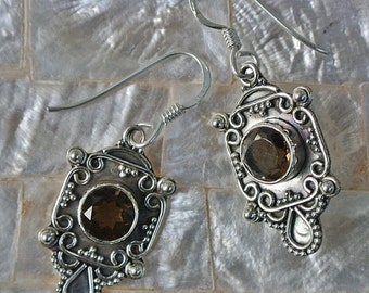 Sterling Silver Bali Earrings