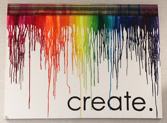 Crayon Art Made to Order on Etsy