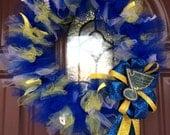 St. Louis Blues Hockey Handmade Tulle Wreath