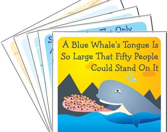 Ocean Animals Pack B - 12 Lunchbox Lunch Box Notes PRINTABLE INSTANT DOWNLOAD