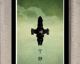 firefly serenity poster 18 00 usd minimalistprintSerenity Minimalist Poster