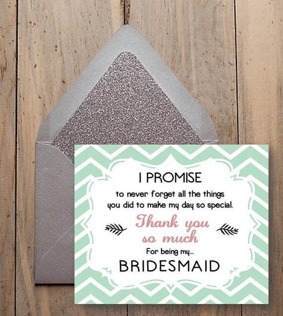 Wedding Thank You Gifts For Bridesmaids: Items Similar To Bridesmaid Thank You