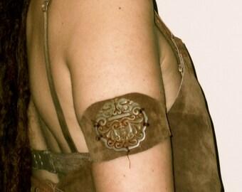 leather upper arm bracelet armlet ganesha elephant