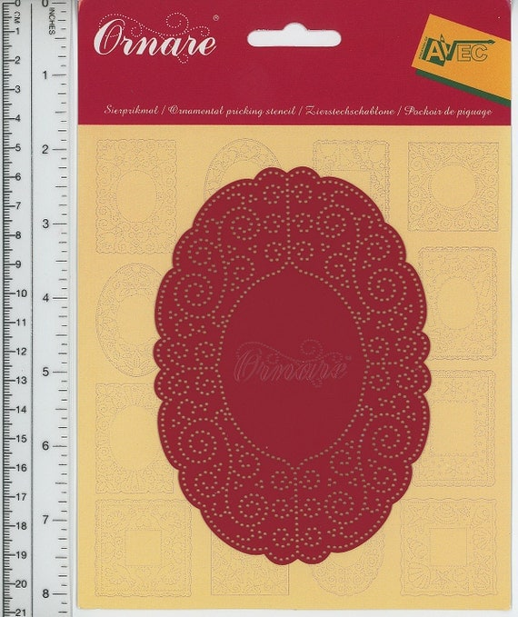 Ornare krul metal paper pricking embossing by for Paper pricking templates