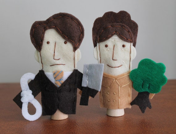 Harold and Maude Finger Puppets - Free shipping!