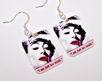 "JOAN CRAWFORD ""Too Much"" Film Noir Earrings"