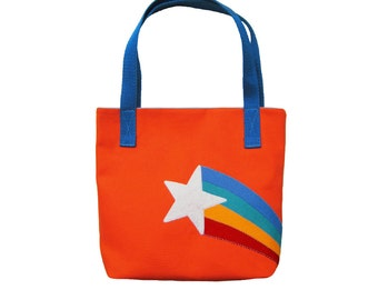 Retro Starburst Rainbow Tote Bag Purse