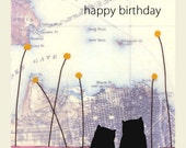 Purrfect Birthday - Single Notecard