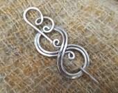 Boo-Knits Aluminum Shawl Pin, Scarf Pin, Sweater Clip, Closure, Fastener Jewelry, Hair Pin, Women, Knitting Accessories, Accessory
