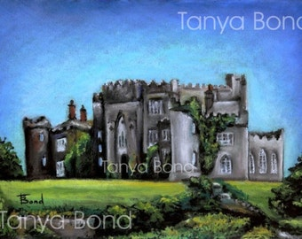 BIRR CASTLE - 5x7 print of an original painting by Tanya Bond - County Offaly Ireland Irish castle