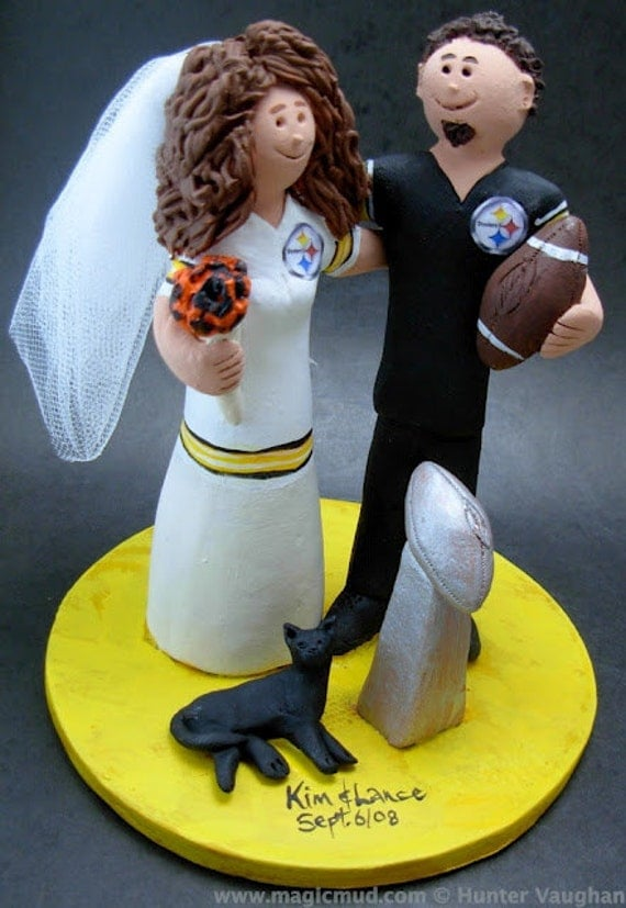 pittsburgh steelers wedding cake topper ancientcoinstore football wedding cake topper custom 18624