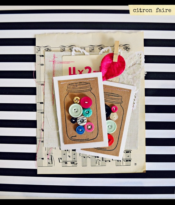Mason Jar button cards