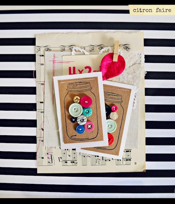 Mason Jar button cards