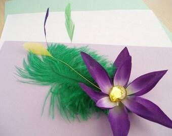 Mardi Gras Hair Clip #3