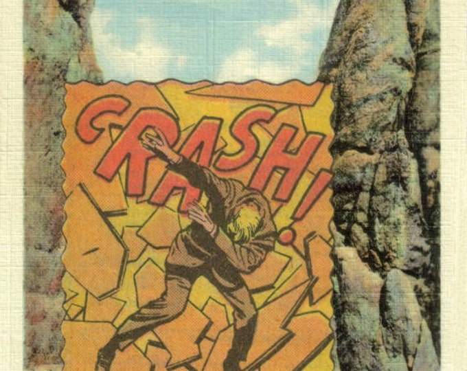Crash Comic Collage Art, Comic Book Onomatopoeia Artwork