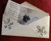 artful handwritten postal letter