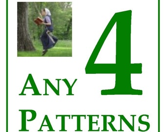 10% OFF ANY 4 CROCHET Patterns -- the Jewell's Handmades